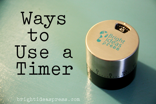 Ways to Use a Timer for Homeschool, Household, and More @lanestacey Bright Ideas Press