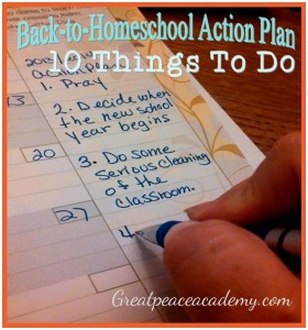 10 Things To Do for Back to Homeschool Planning