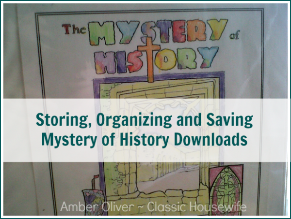 storing, organizing, and saving mystery of history downloads