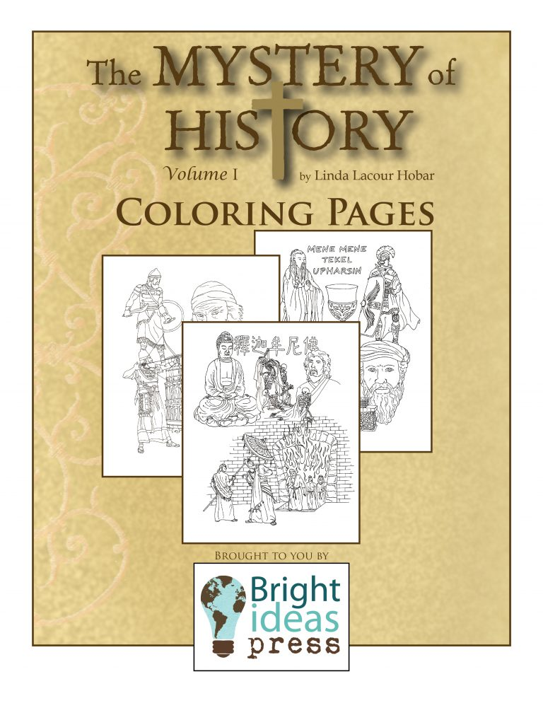 The Mystery of History  Volume I Coloring Pages by Bright Ideas Press