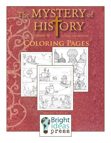 The Mystery of History Volume III Coloring Pages by Bright Ideas Press