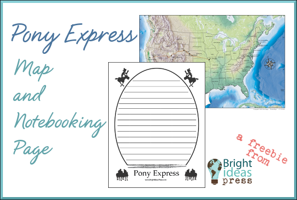 pony express freebie from Bright Ideas Press