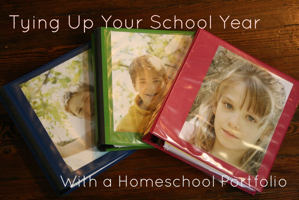 Tying Up Your School Year with a Homeschool Portfolio