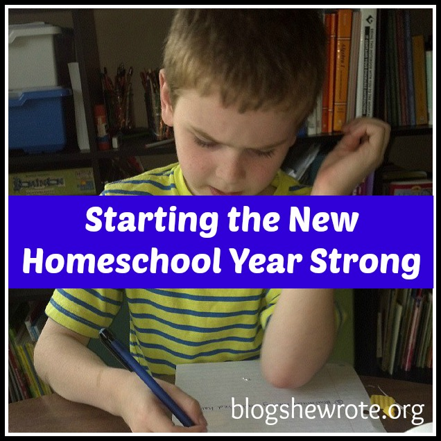Starting the New Homeschool Year Strong @brightideasteam@HeatherBSW