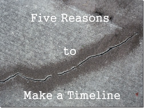 Five Reasons to Make a Timeline @SuzBroadhurst @BrightIdeasTeam