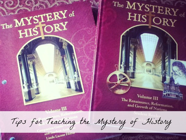 mystery of history teaching tips