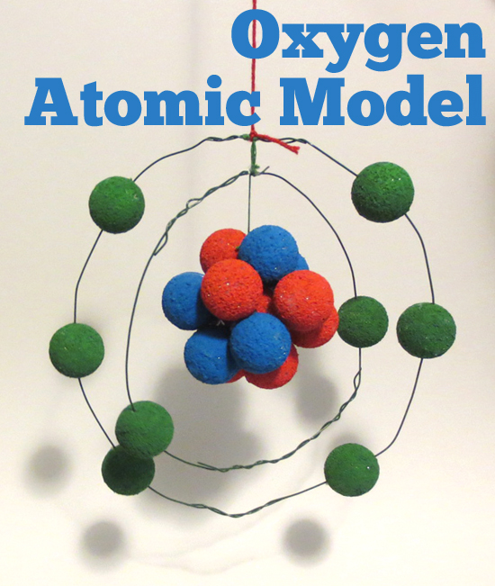 Atomic Model Oxygen @brightideasteam