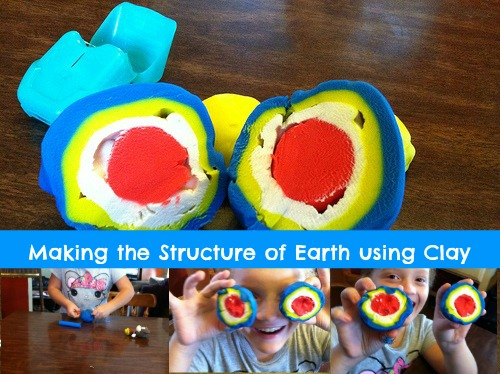 hands on earth science, clay model of earth's structure