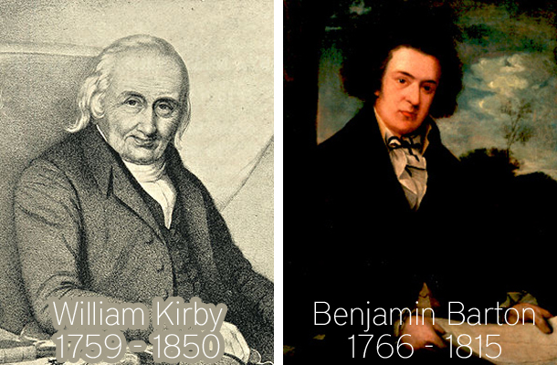 Christian biologists William Kirby and Benjamin Barton
