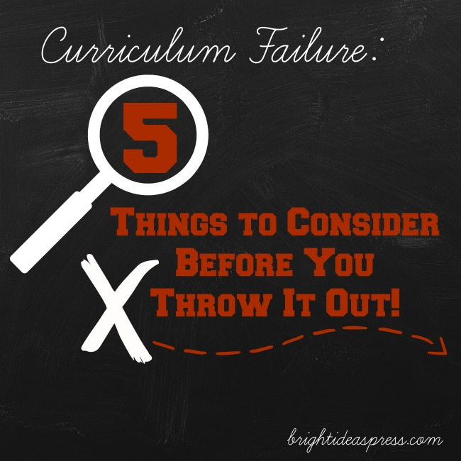 Curriculum Failure 5 Things to Consider