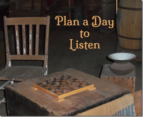 Plan a Day to Listen