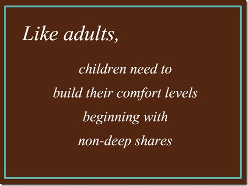 Communicating with Children: They Need to Build Their Comfort Levels