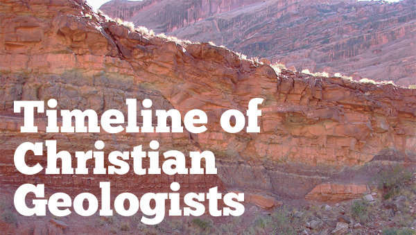 Timeline of Christian Geologists
