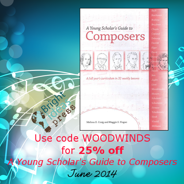 Use code WOODWINDS for 25% off A Young Scholar's Guide to Composers