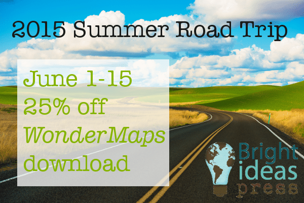 June 1-15, 2015; 25% off Wondermaps