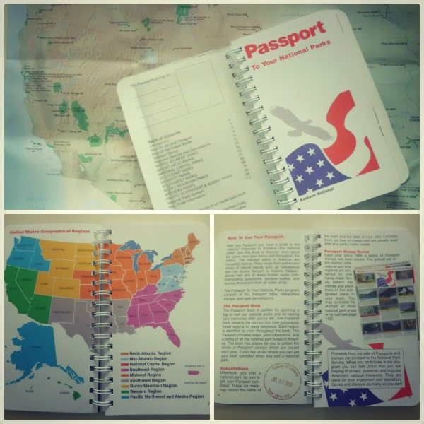 The passport book comes with a map of National Parks and lists of parks by region.