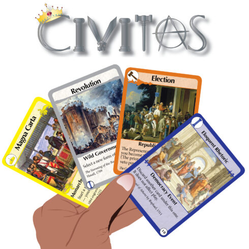Civitas is a card game about different forms of government. Pass laws, solidify your leadership, and rule the table in this smart, fast-paced game.