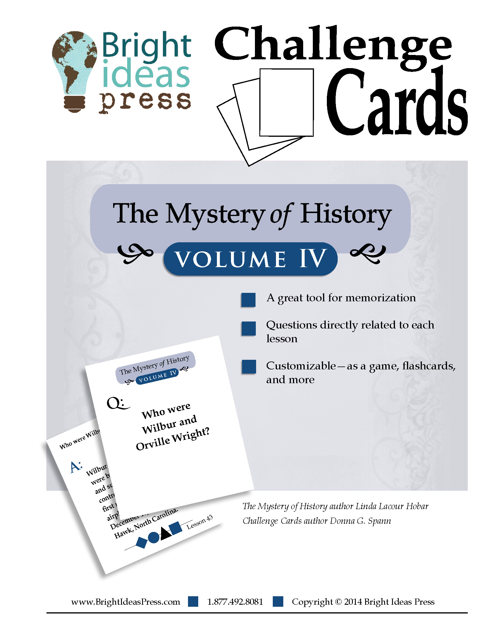 The Mystery of History Volume IV Challenge Cards by Bright Ideas Press